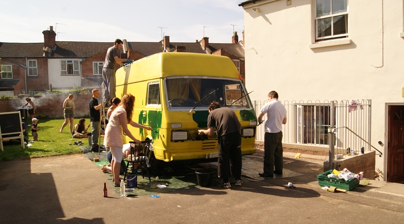 the painting of the van