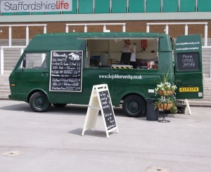 Our food truck at Uttoxeter food festival, with no one around.