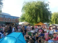 The Jabberwocky, buried beneath the crowds at Stratford River Festival