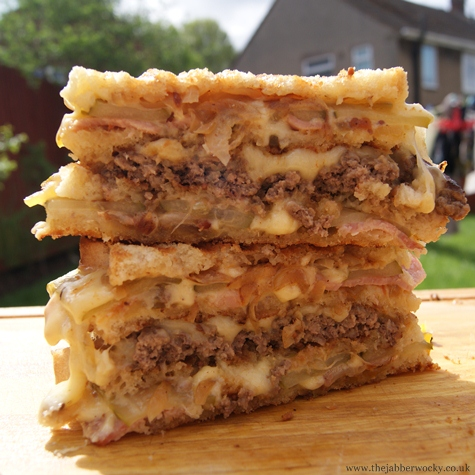 The Toasted Sandwich Burger AKA The Juggernaut
