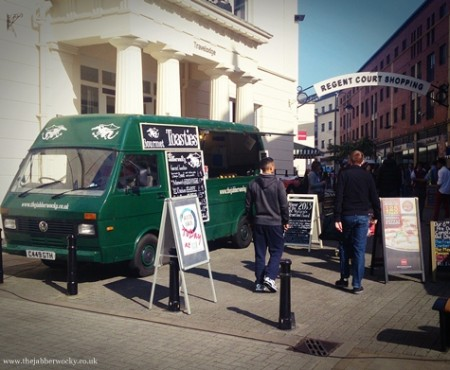Street food trucks in nature