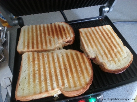 How to make a toastie: panini press