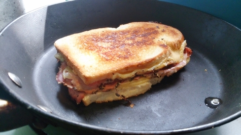 How to cook a toastie: Frying Pan