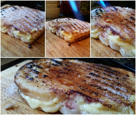 Creme Brulee toastie blowtorching