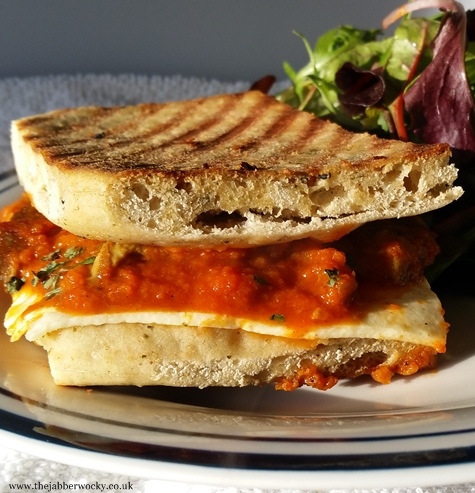 Paneer curry toastie