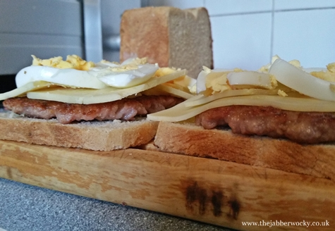 scotch egg toastie construction