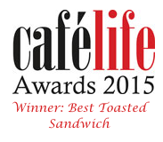 Cafe life Award 2015 Best toasted sandwich