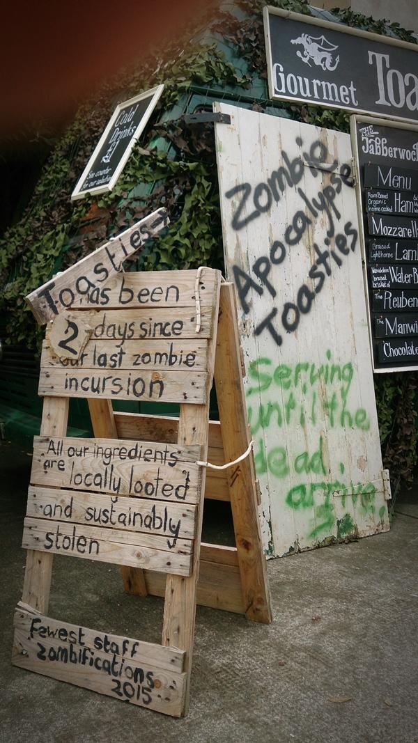 zombie street food van