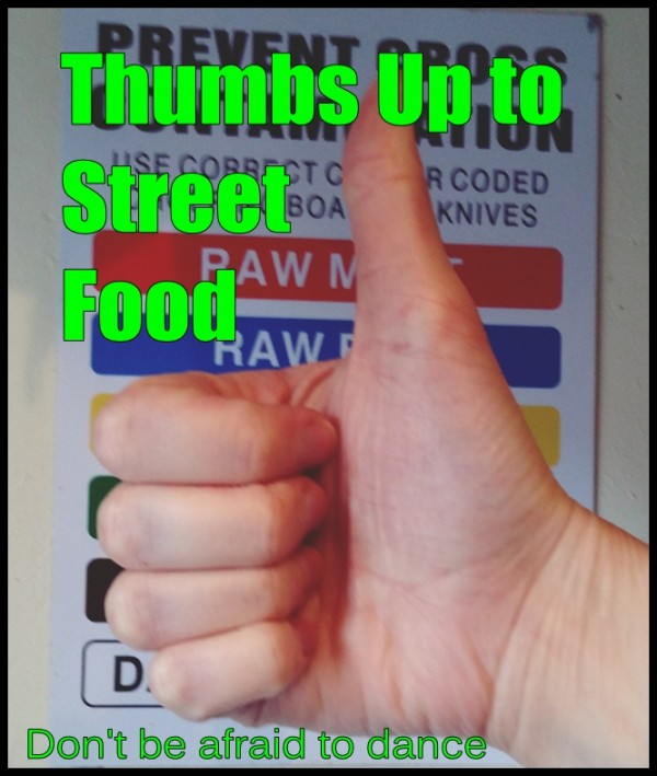 thumbs up to street food
