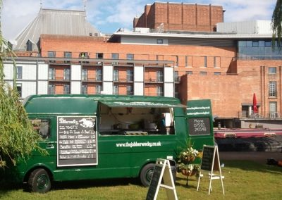 The van in front of the RSC.