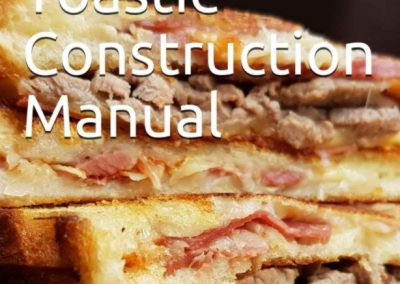 The cover for the Toastie Construction Manual