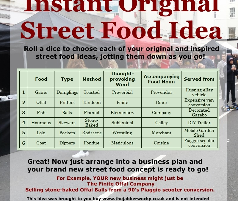 Original Street Food Ideas