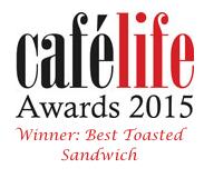 cafe life award best toasted sandwich